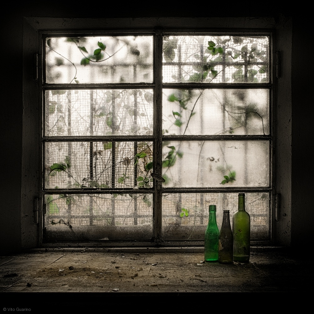 Poster Still-Life with glass bottle