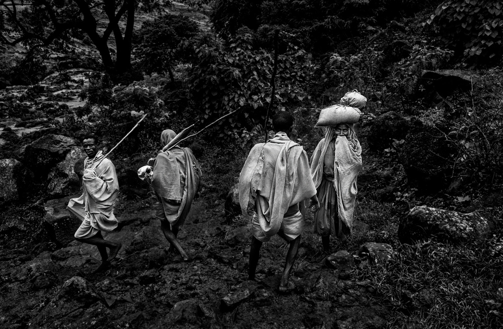 Poster  Peasants back from work-VII (Ethiopia)