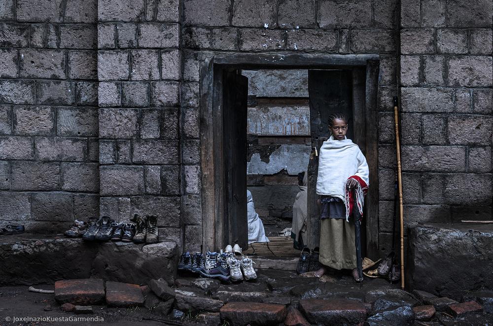 Poster Entrance of a church (Lalibela - Ethiopia)