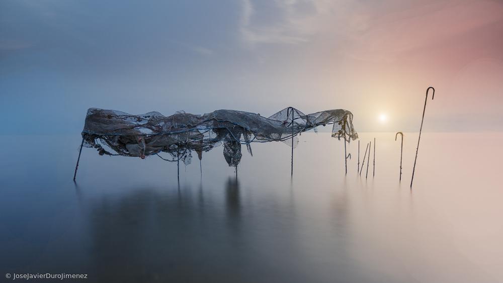 Fotokonst Fishing net II