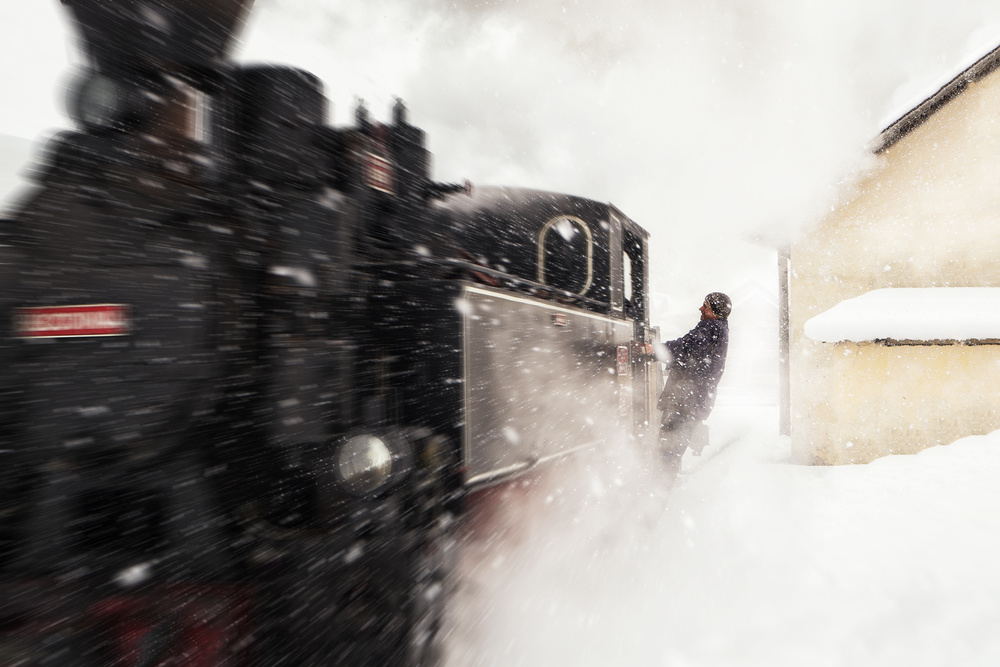 Fotokonst Catching the train
