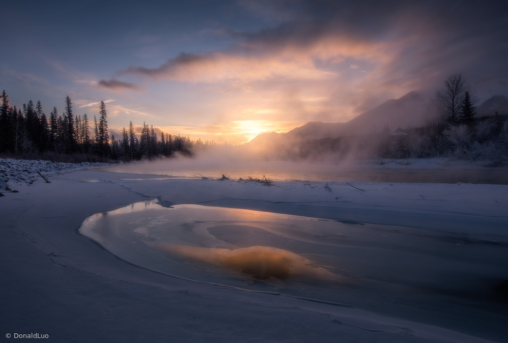 Fotokonst winter mist
