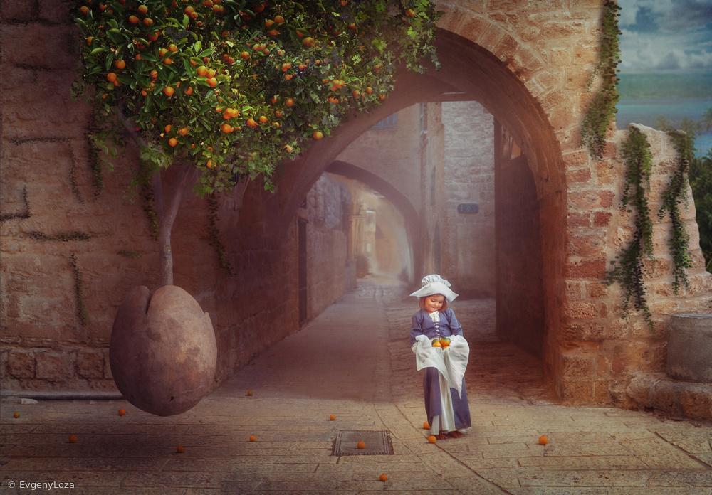 Fotokonst Orange tree