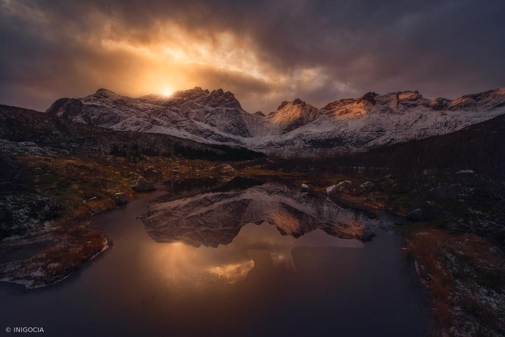 Fotokonst Lofoten mountains