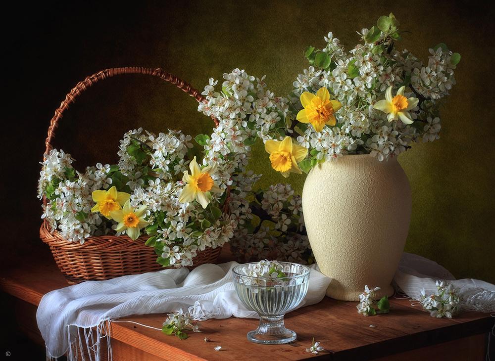 Fotokonst Still life with flowers may