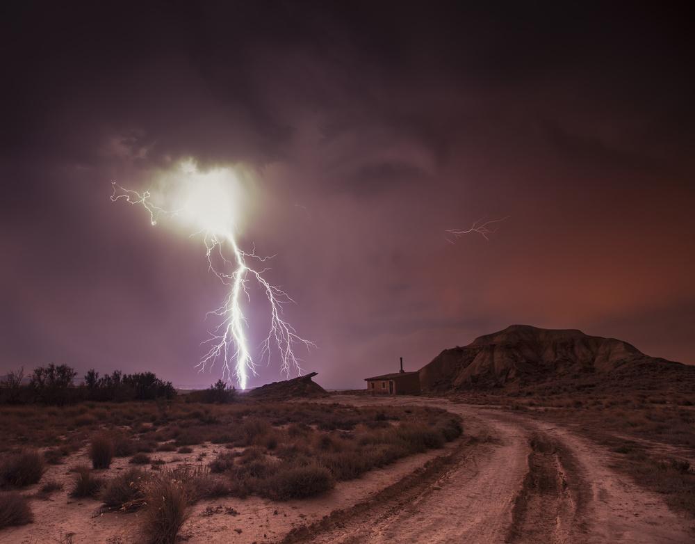 Fotokonst Bardenas storm