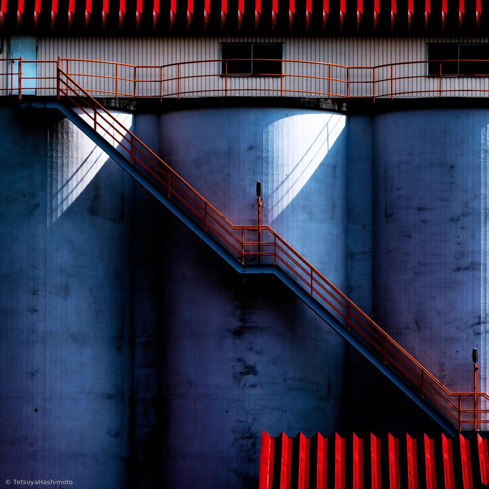 Fotokonst Red diagonal line