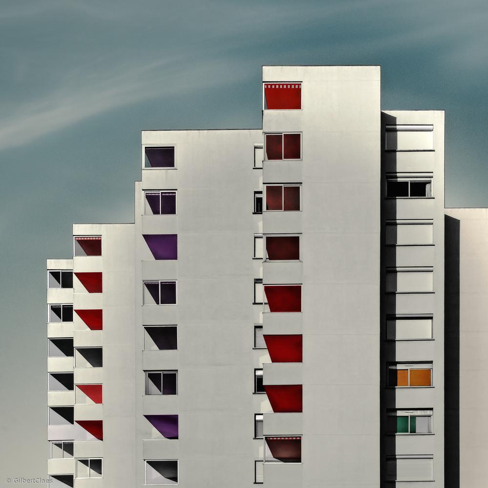 Fotokonst happy flats