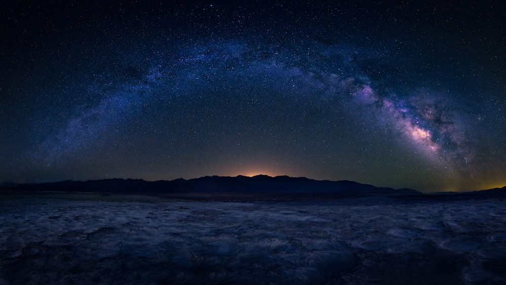 Fotokonst Badwater Under The Night Sky