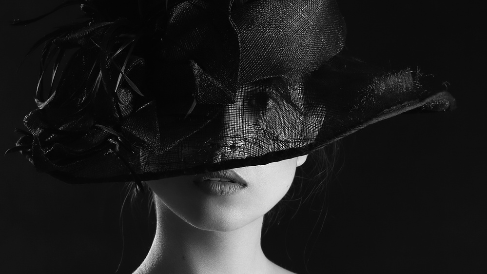 Fotokonst The girl in the hat