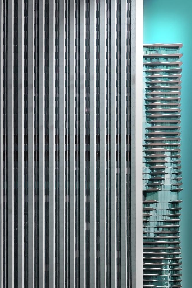 Fotokonst Chicago abstract II