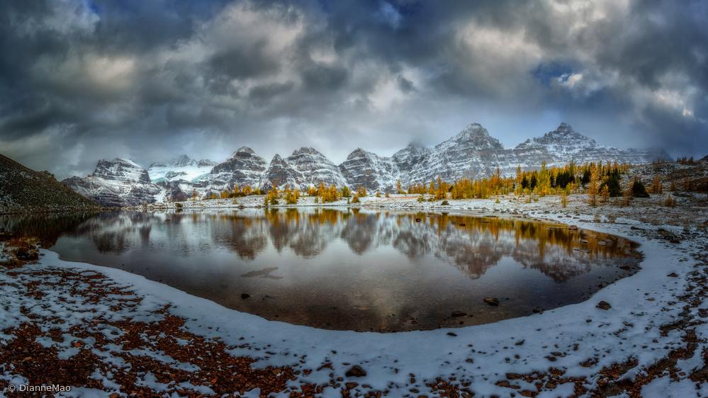 Fotokonst Ring of Ten Peaks