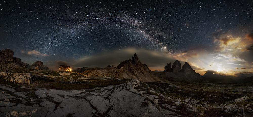 Poster Galaxy Dolomites
