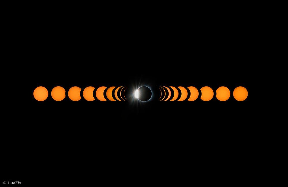 Fotokonst 2017 total solar eclipse