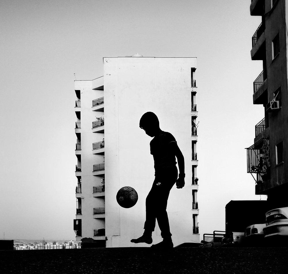 Fotokonst Boy in the light
