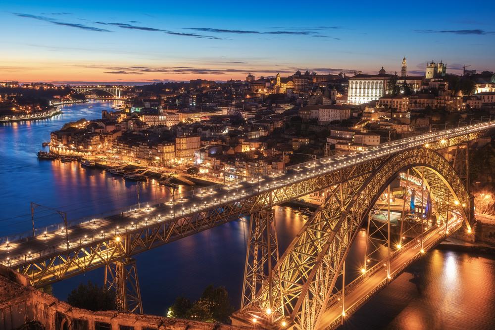 Poster Portugal - Porto Blue Hour