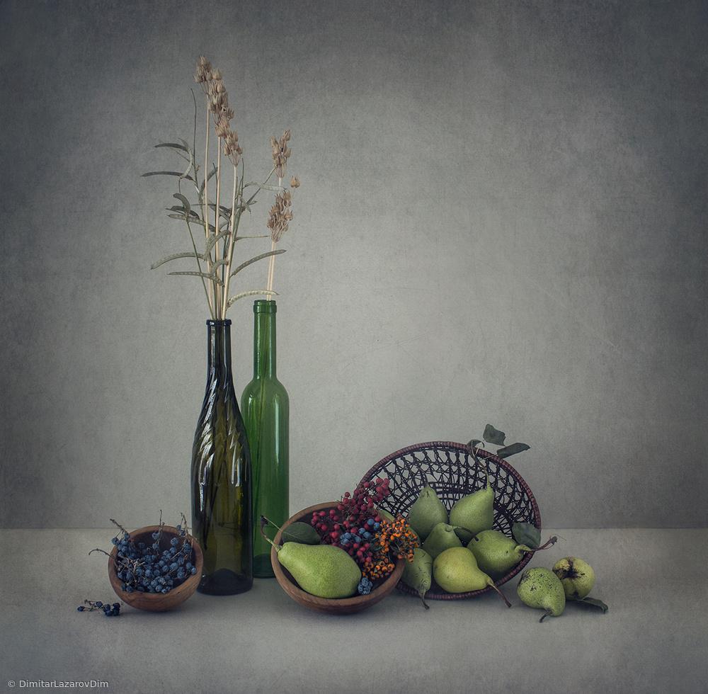 Fotokonst Still life with green pears
