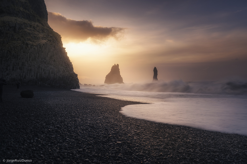 Fotokonst Reynisfjara sunrise