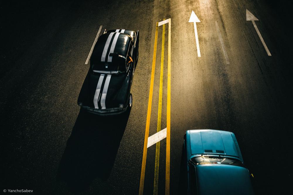 Fotokonst Passing cars