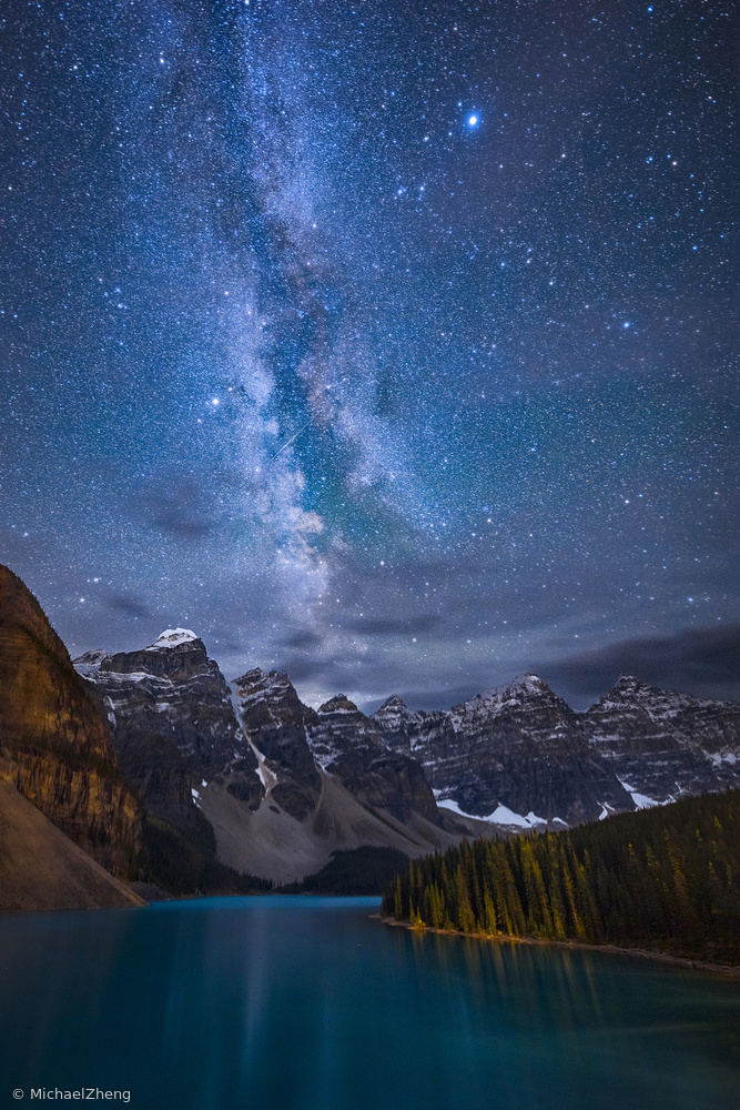 Poster Moraine Lake Under The Night Sky