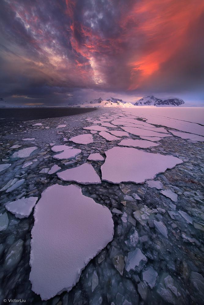 Fotokonst Antarctica fire