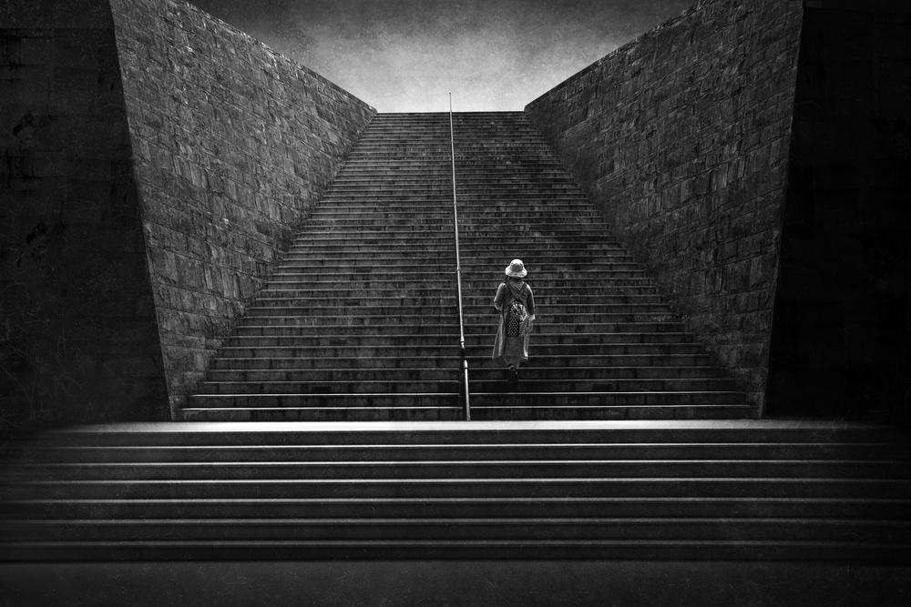 Fotokonst Silent step to the light