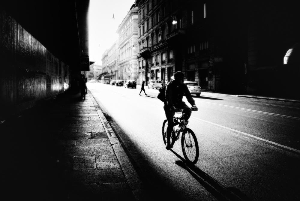 Fotokonst Urban cyclist