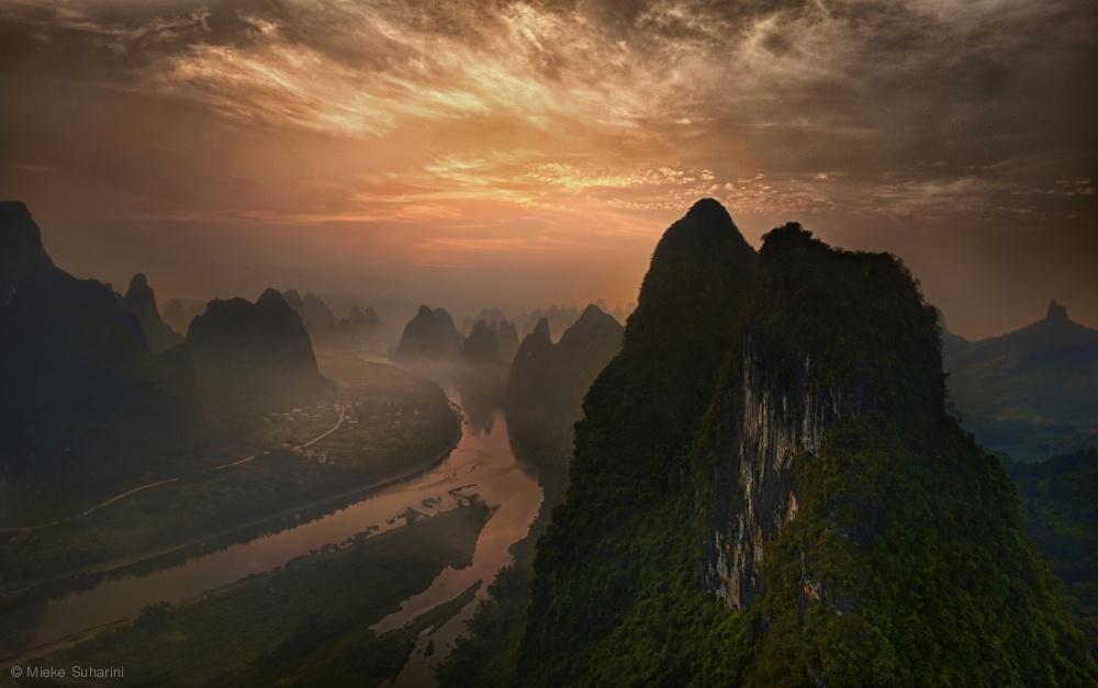 Fotokonst Dawn at Li River