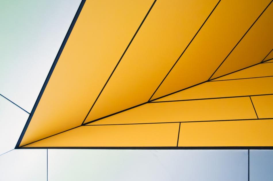Poster yellow dart