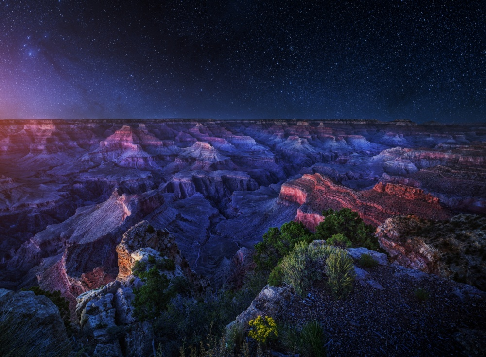 Poster Grand Canyon Night