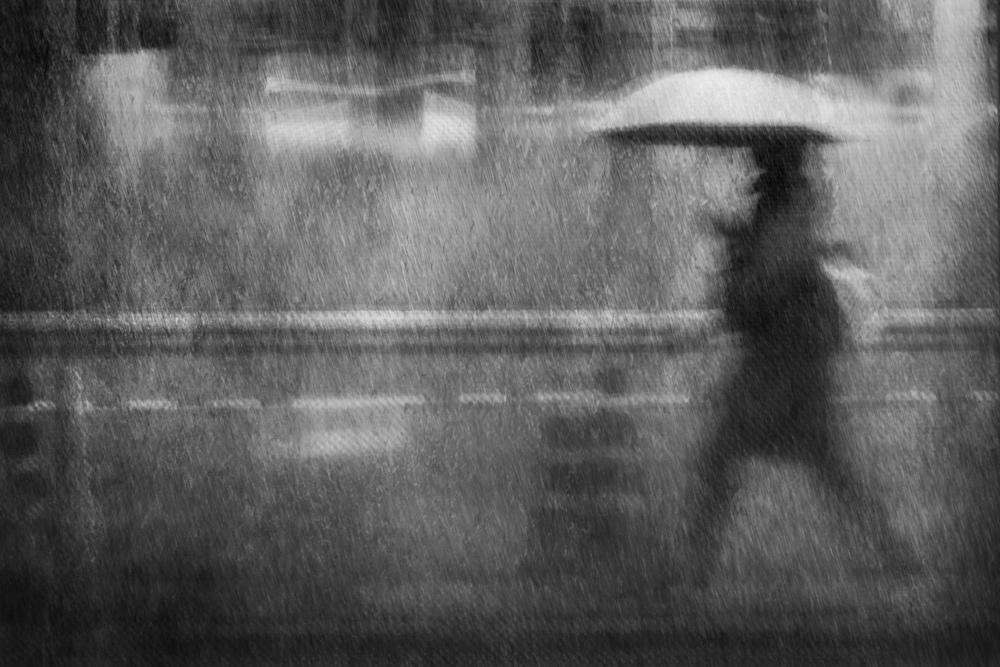 Fotokonst Rainy walker