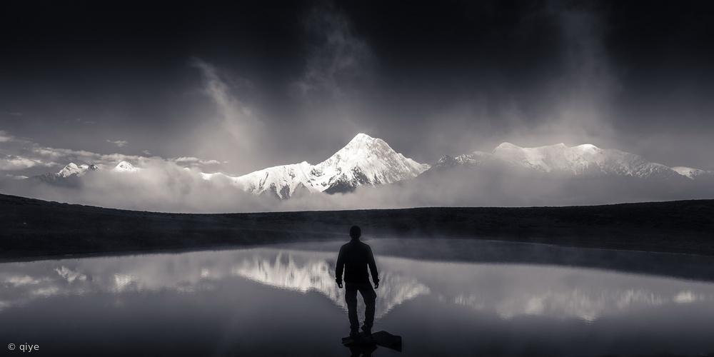 Fotokonst The call of God 《神山召唤》