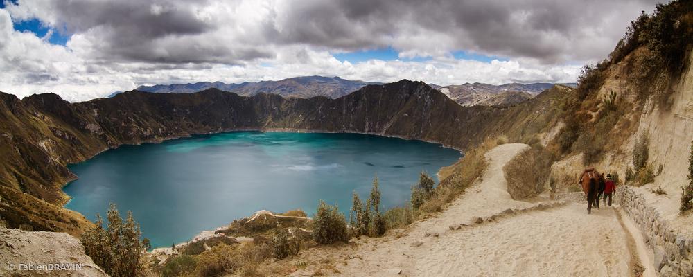 Poster Quilotoa Volcano Laguna - Provincia de Cotopaxi - Ecuador