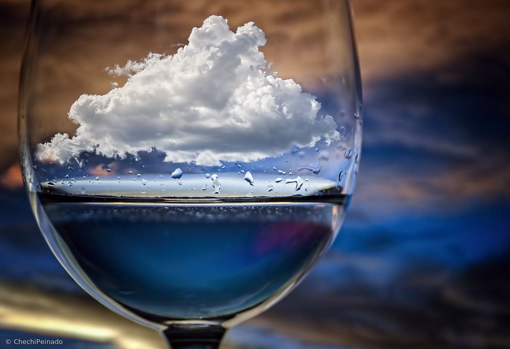 Fotokonst Cloud in a glass
