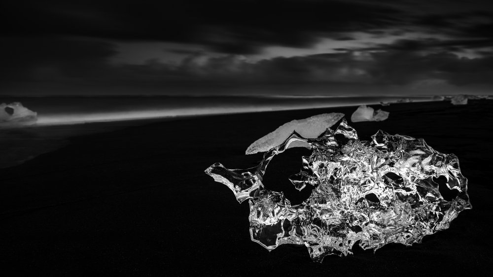 Fotokonst Diamond Beach.