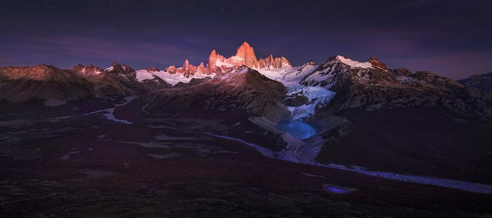Fotokonst Patagonia Moonlight