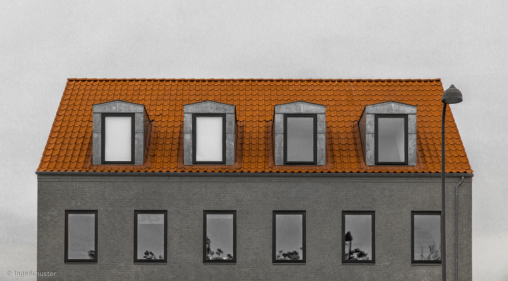 Fotokonst House and lamp