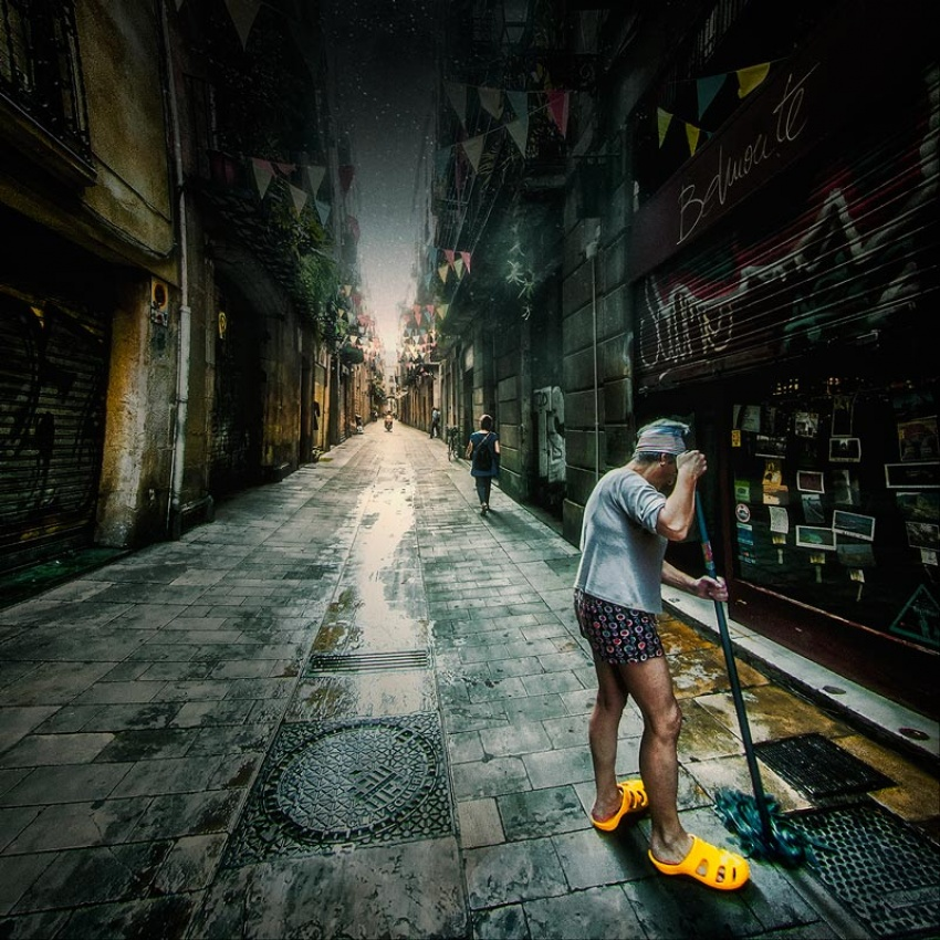 Fotokonst wipe away