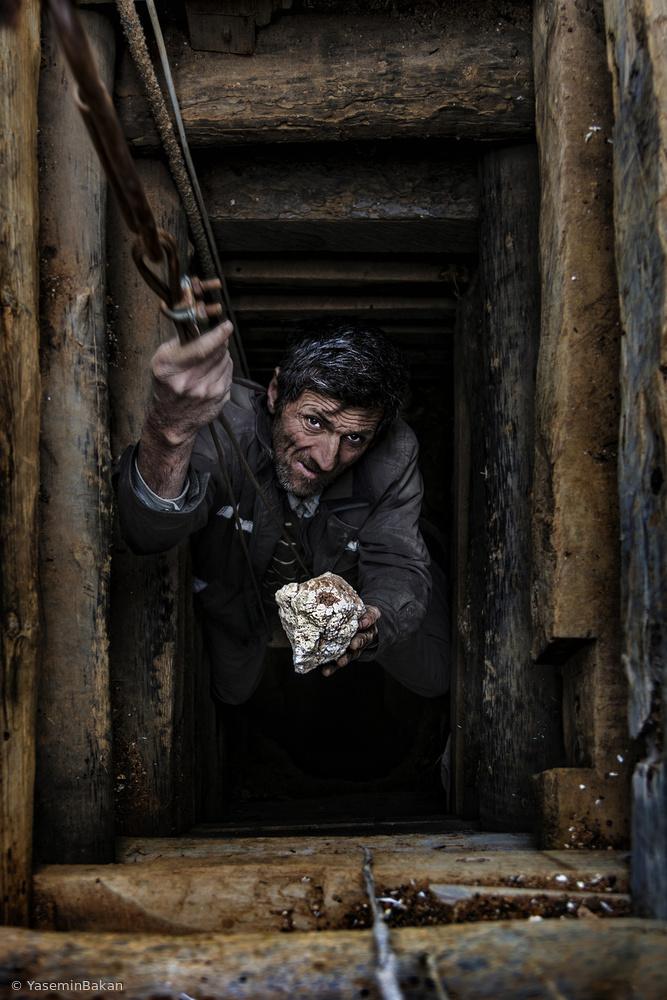 Fotokonst Meerschaum worker