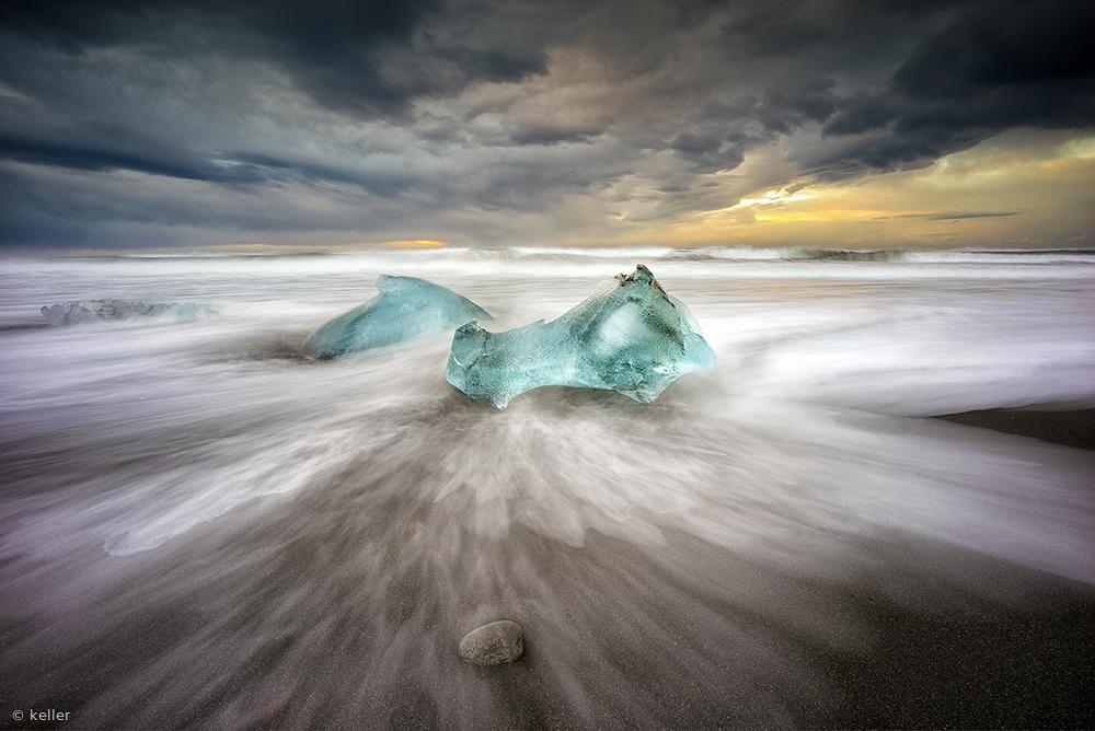 Fotokonst jokulsarlon beach