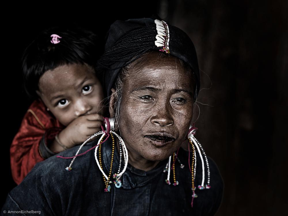 Fotokonst potrait myanmar