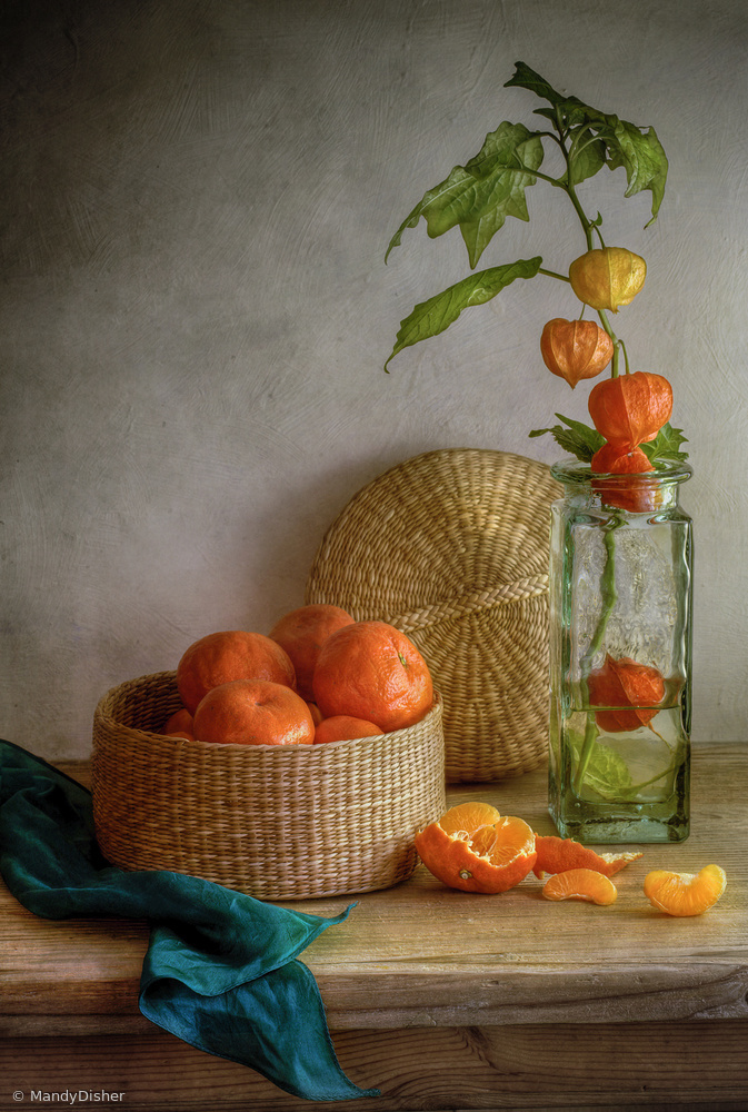 Fotokonst Still life with Clementines