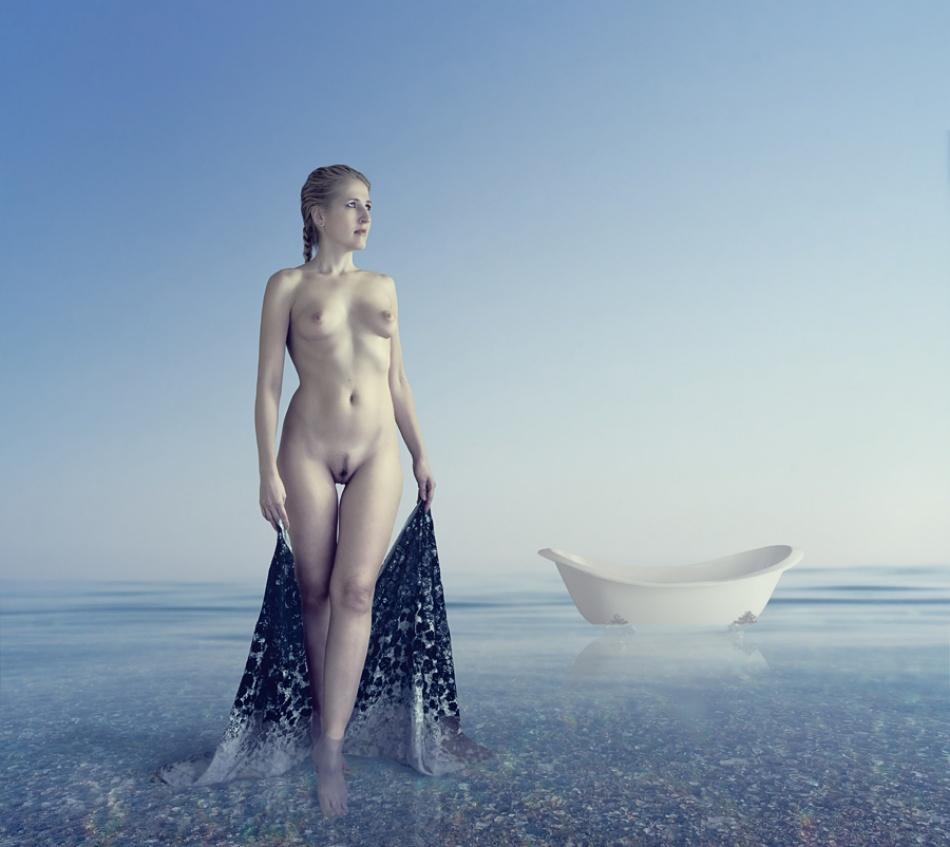 Poster sea bath