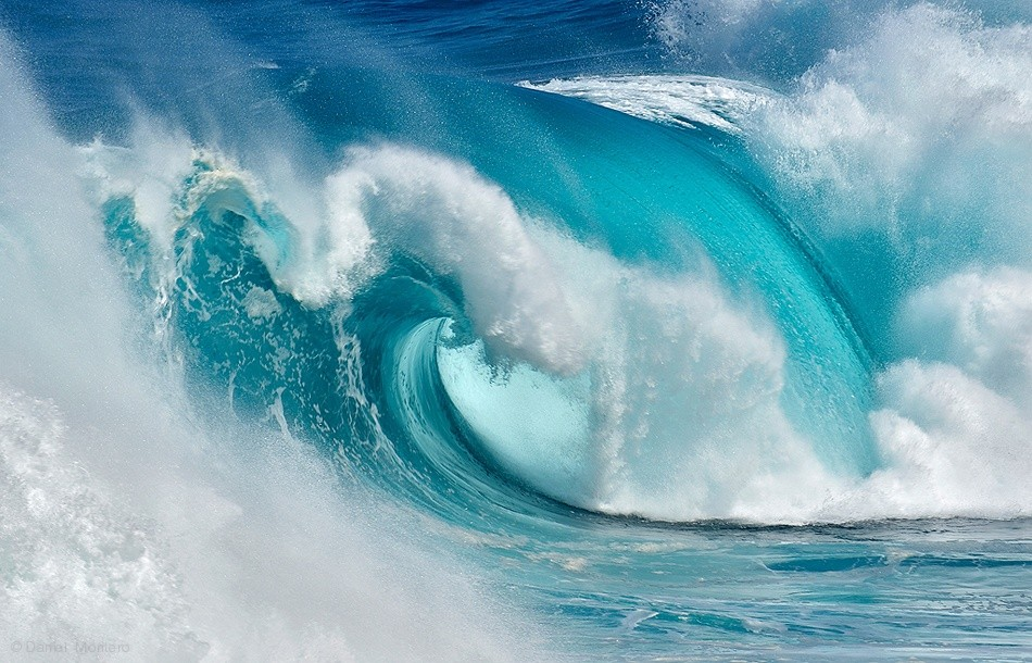 Fotokonst When the ocean turns into blue fire