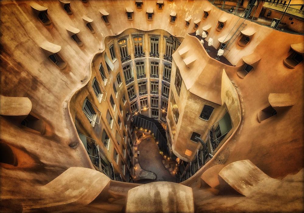 Fotokonst Casa Milà, La Pedrera, Barcelona.