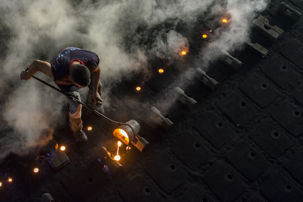 Fotokonst Walk with fire