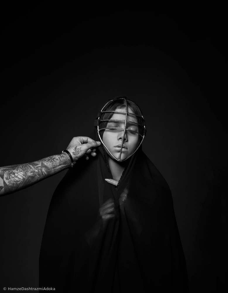 Fotokonst forced veil