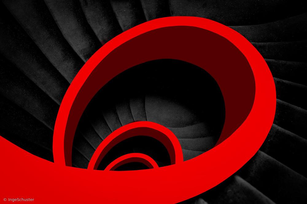 Fotokonst A red spiral