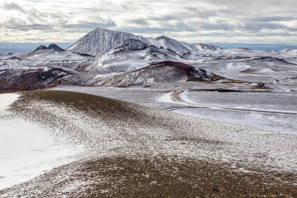 Fotokonst Start of winter in Iceland
