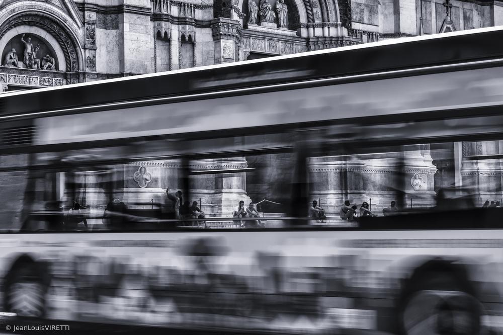 Fotokonst Bus in Bologna